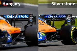 McLaren MCL35 rear comparison