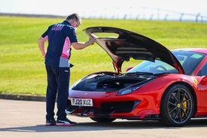 Otmar Szafnauer, Team Principal and CEO, Racing Point, arrives