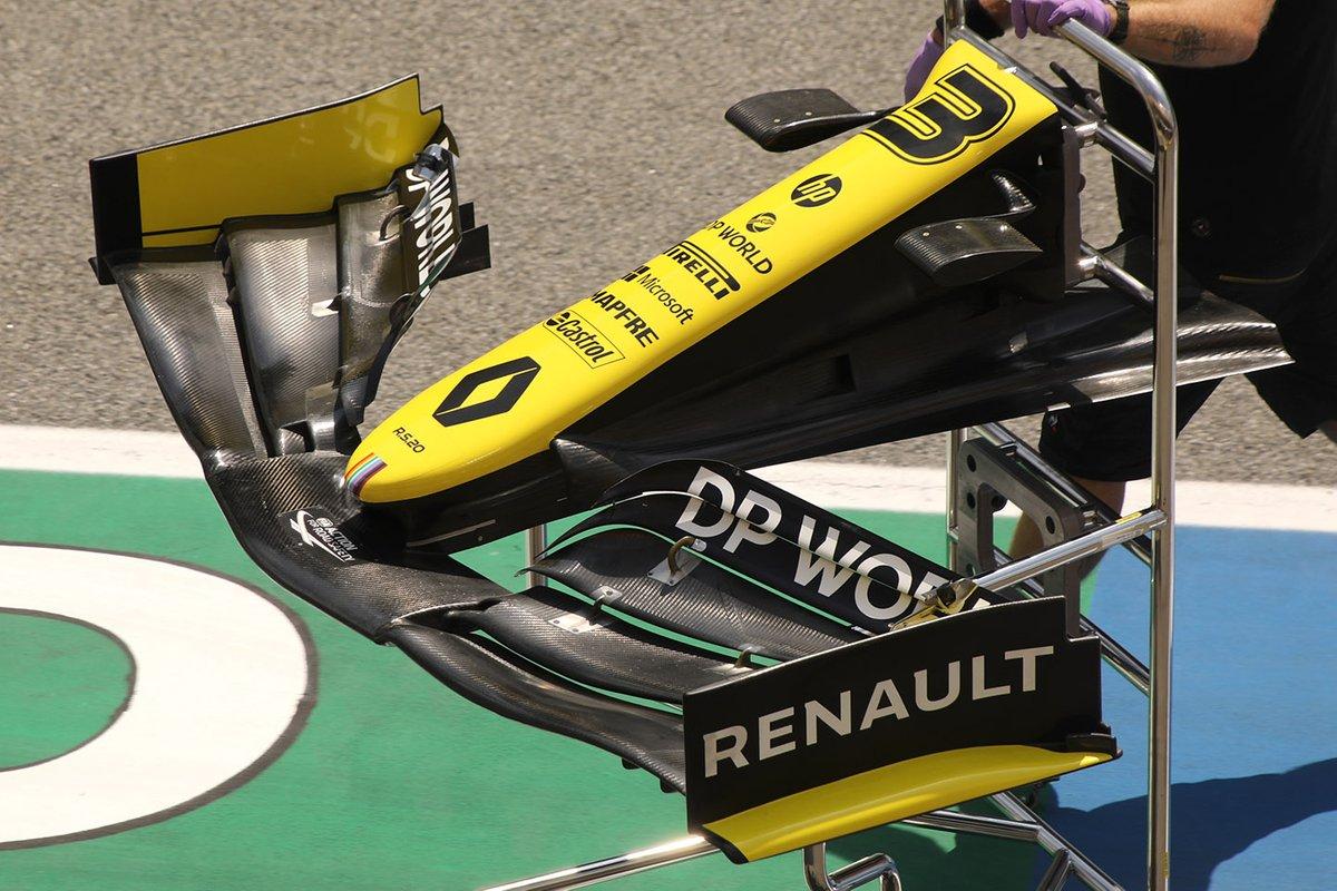 Detalle del alerón delantero del Renault F1 Team R.S.20