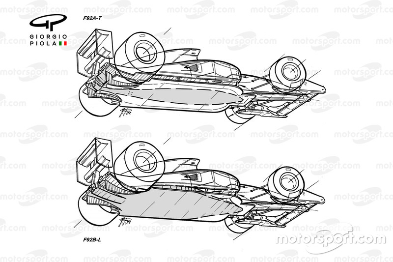 Ferrari F92A - F92AT comparison
