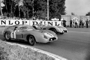 Stirling Moss, Harry Schell, Maserati 450 SZ Coupe, Lucien Bianchi, Georges Harris, Ferrari 500TR