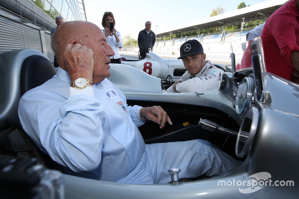 Lewis Hamilton i Sir Stirling Moss, Monza