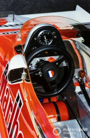 The cockpit of Patrick Tambay, McLaren M26 Ford
