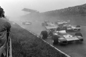 Graham Hill, Brabham BT34 Ford, Tim Schenken, Brabham BT33 Ford, Peter Gethin, McLaren M14A Ford