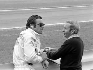 Peter Revson and Mclaren Boss Teddy Mayer