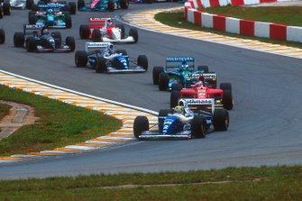 Ayrton Senna, Williams FW16 Renault, Jean Alesi, Ferrari 412T1, Michael Schumacher, Benetton B194 Ford, Damon Hill, Williams FW16 Renault, Heinz-Harald Frentzen, Sauber C13 Mercedes, Mika Hakkinen, McLaren MP4/9 Peugeot