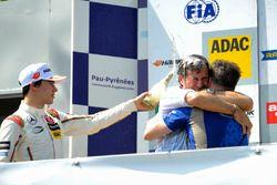 Podium, Lance Stroll Prema Powerteam Dallara F312 – Mercedes-Benz, Sandro Lorandi