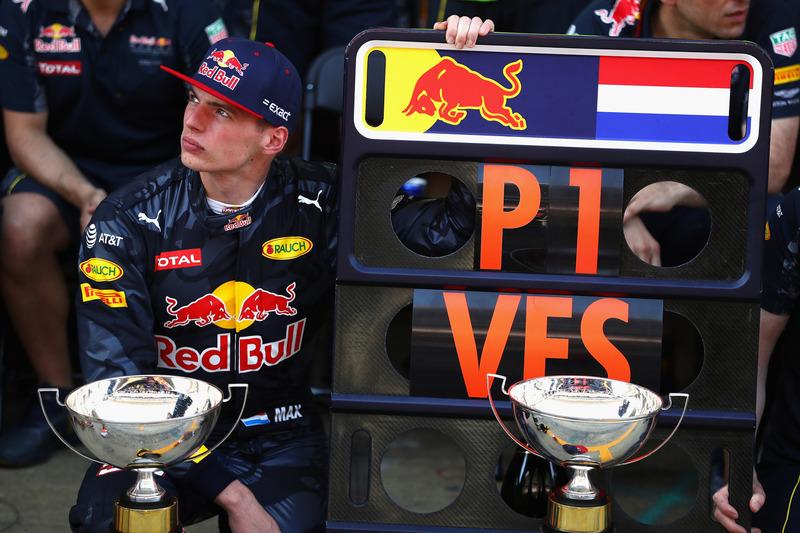 Max Verstappen, Red Bull Racing después de ganar el Gran Premio de España