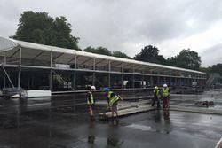 Opbouw London ePrix circuit