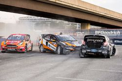 Steve Arpin, Bucky Lasek, and Brian Deegan race at Round 8 of Red Bull Global Rallycross at RFK Stadium in Washington, DC USA on July 29, 2016. // Chris Tedesco/Red Bull Content Pool // P-20160730-00129 // Usage for editorial use only // Please go to www.redbullcontentpool.com for further information. //