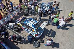 Sébastien Ogier, Julien Ingrassia, Volkswagen Polo WRC, Volkswagen Motorsport y Andreas Mikkelsen, A