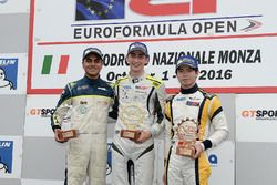 Rookie podium: first place Ferdinand Habsburg, Drivex School, second place Enaam Ahmed, RP Motorsport, third place Hongli Ye, BVM Racing