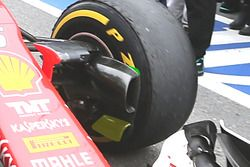 Detalle de conducto de freno Ferrari SF16-H