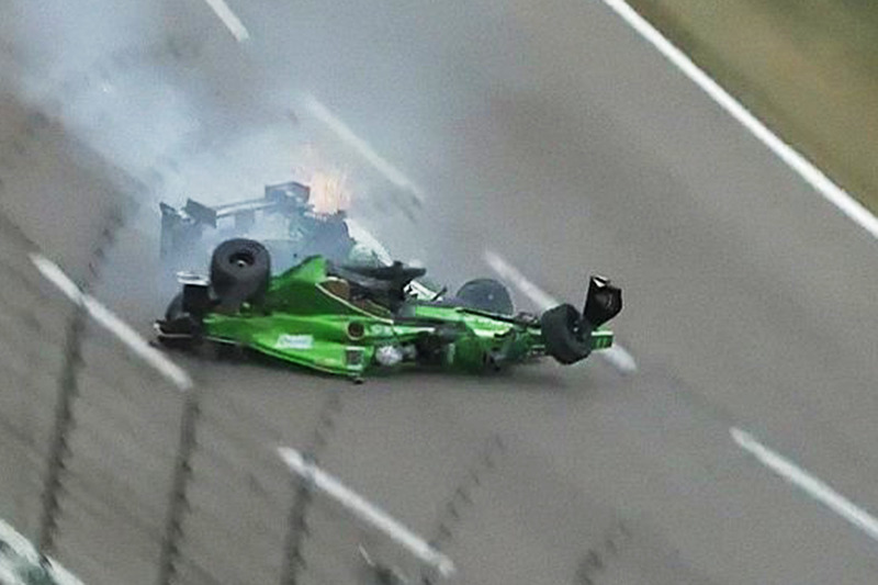 12 juin - Le crash Daly/Newgarden