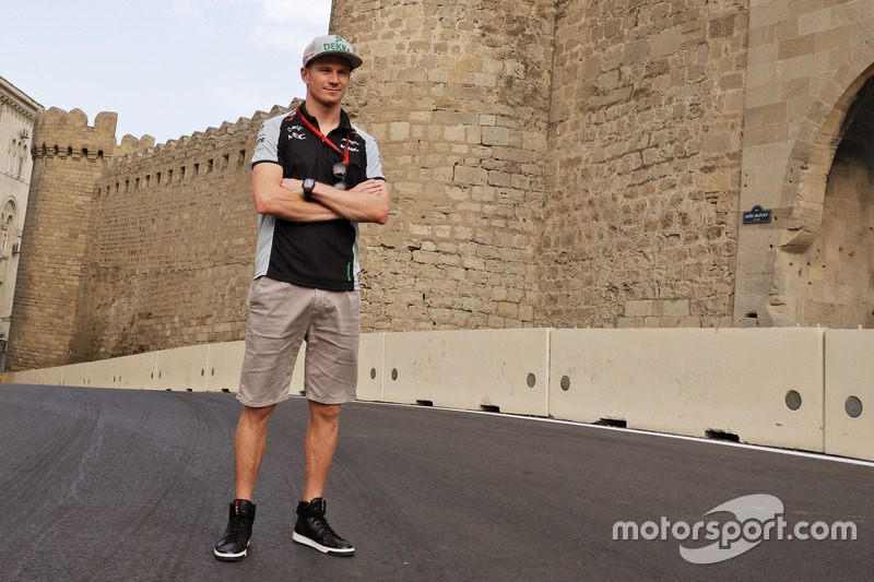 Ніко Хюлькенберг, Sahara Force India F1, йде по треку