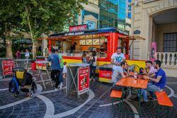 Carro de comida alemana