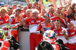 Андреа Янноне, Ducati Team, Андреа Довициозо, Ducati Team и Луиджи Далл'инья, менеджер команды Ducat