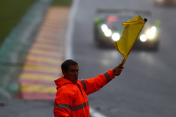 Marshall waves the yellow flag