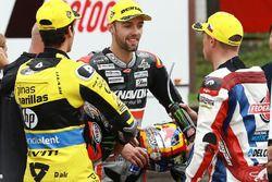 Il vincitore della gara Jonas Folger, Dynavolt IntactGP, il secondo classificato Alex Rins, Paginas Amarillas HP 40, il terzo classificato Sam Lowes, Federal Oil Gresini Moto2