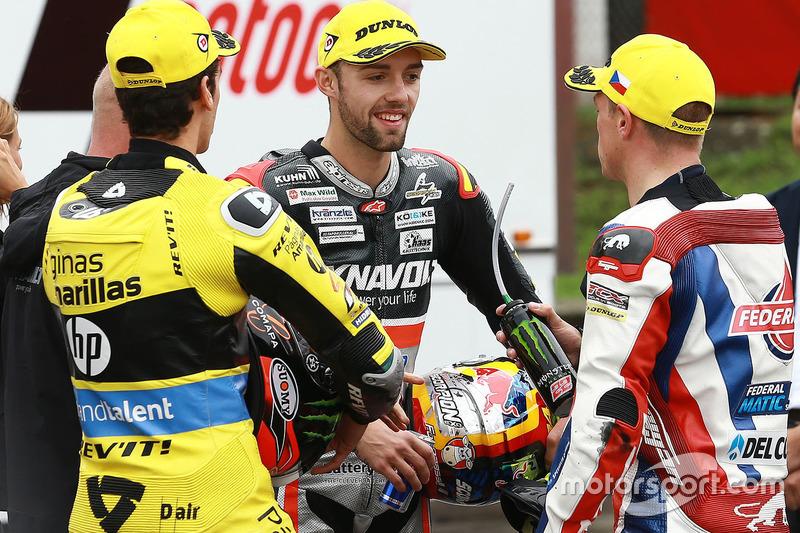 Sieger Jonas Folger, Dynavolt IntactGP; 2. Alex Rins, Paginas Amarillas HP 40; 3. Sam Lowes, Federal Oil Gresini Moto2