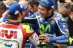 Second place Valentino Rossi, Yamaha Factory Racing with race winner Cal Crutchlow, Team LCR Honda