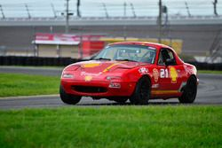 #21 MP4B Mazda Miata driven by Bryan Horowitz of Scuderia Shell Burbank