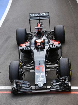 Stoffel Vandoorne, pilote d'essais et de réserve McLaren MP4-31