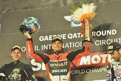 Podium : victoire pour Chaz Davies, Ducati Team