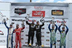 Podium ST: race winners #25 Freedom Autosport Mazda MX-5: Chad McCumbee, Stevan McAleer, second plac