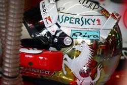 El casco de Sebastian Vettel, Ferrari