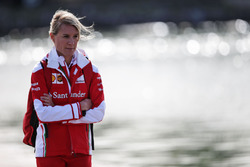 Britta Roeske, Pressesprecherin von Sebastian Vettel, Ferrari