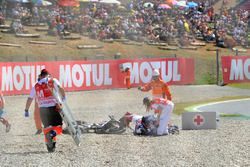 Chute de Jules Danilo, Ongetta-Rivacold, Hiroki Ono, Honda Team Asia