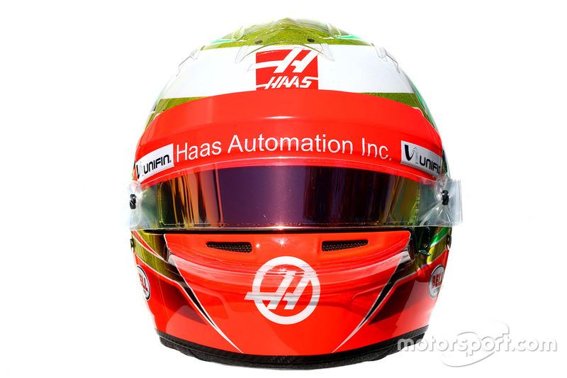 Le casque d'Esteban Gutiérrez, Haas F1 Team