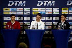 Press Conference: Edoardo Mortara, Audi Sport Team Abt Sportsline, Audi RS 5 DTM; Paul Di Resta, Mer