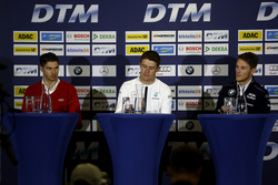 Press Conference: Edoardo Mortara, Audi Sport Team Abt Sportsline, Audi RS 5 DTM; Paul Di Resta, Mer