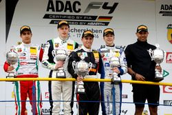 Podium: best rookie, Juan Manuel Correa, Prema Powerteam ; second place Kim-Luis Schramm, US Racing; winner Joseph Mawson, Van Amersfoort Racing; third place Mike David Ortmann, Mücke Motorsport