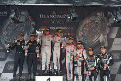 Podium: winner #33 Belgian Audi Club Team WRT Audi R8 LMS GT3: Enzo Ide, Christopher Mies, second pl