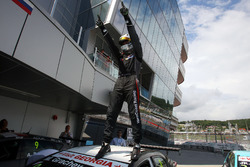 Race winner Mikhail Grachev, West Coast Racing, Honda Civic TCR