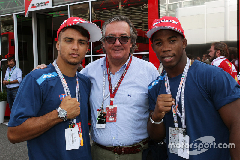 (L to R): Fabio Basile, Judo Olympic Champion, Rio 2016 with Giancarlo Minardi, and Frank Chamizo Marquez, Wrestling bronze medalist at Rio 2016