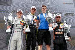 Podium: Race winner Lando Norris, Carlin Dallara F317 - Volkswagen, second place Jake Hughes, Hitech