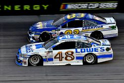 Jimmie Johnson, Hendrick Motorsports Chevrolet, Gray Gaulding, BK Racing Toyota