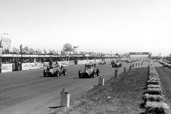Juan Manuel Fangio, Alfa Romeo and Luigi Fagioli lead