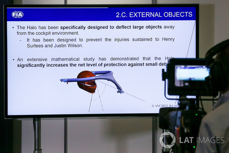 TV screen in the Press Conference for the Halo device