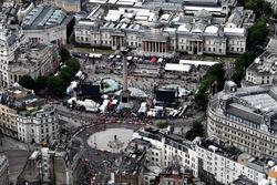 Una veduta aerea del F1 Live a Londra