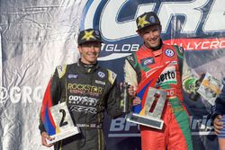 Podium : le vainqueur Scott Speed, Volkswagen, le deuxième Tanner Foust, Volkswagen