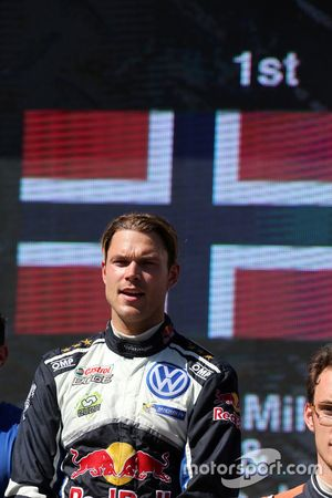 Podium : le vainqueur Andreas Mikkelsen, Volkswagen Motorsport