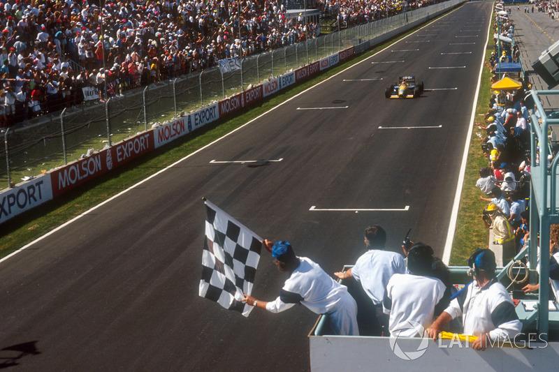Piquet voltaria a vencer apenas em 1990, no Japão e Austrália. O último triunfo do tricampeão foi no Canadá em 1991 (foto).