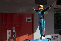 Arjun Maini, Jenzer Motorsport celebrates his victory in Race Two