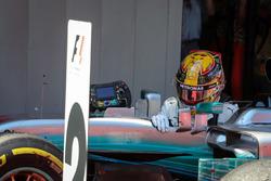 Podyum: Yarış galibi Lewis Hamilton, Mercedes-Benz F1