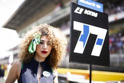 Chica de la parrilla de Valtteri Bottas, Mercedes AMG F1